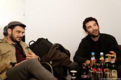 David Baruchel und Manuel Nectoux entspannt